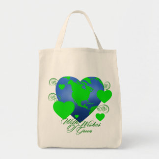 Wishes of Green Organic Tote