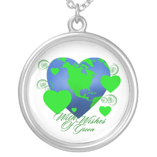 Wishes of Green Round Necklace
