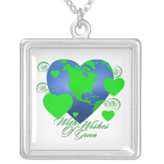 Wishes of Green Square Necklace