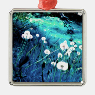 wishes Silver-Colored square decoration