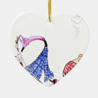 wishful thinking - golf, tony fernandes ceramic heart decoration