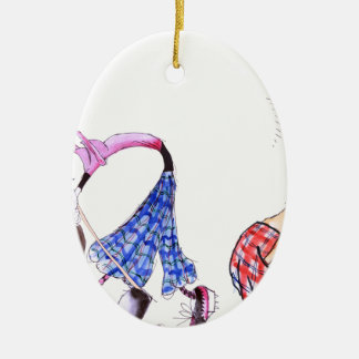 wishful thinking - golf, tony fernandes ceramic oval decoration