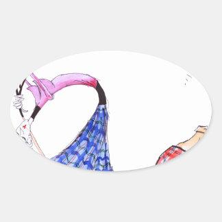 wishful thinking - golf, tony fernandes oval sticker