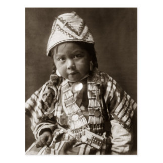 Wishham Indian child Postcard