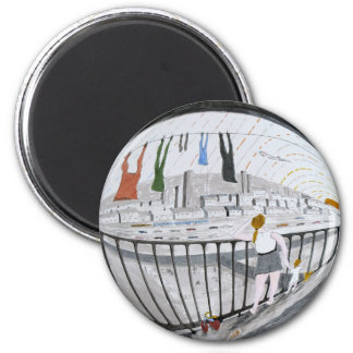 Wishing on a 'Plane 6 Cm Round Magnet