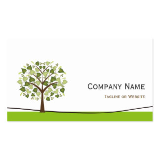 Wishing Tree of Hearts - Simple Green Stylish Business Card Templates