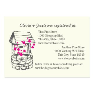 Wishing Well Bridal Registry Cards Business Card Templates