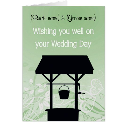 'Wishing well' card, great for gifts of $ Card