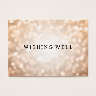 Wishing Well Copper Glitter Lights Business Card