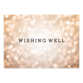 Wishing Well Copper Glitter Lights Pack Of Chubby Business Cards