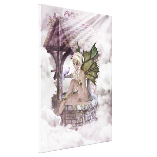 Wishing Well Faerie Wrapped Canvas Gallery Wrap Canvas