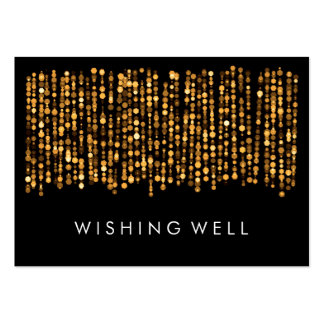 Wishing Well Modern Gold Lights Business Cards