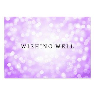 Wishing Well Purple Glitter Lights Business Card Template