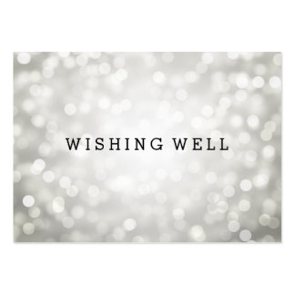 Wishing Well Silver Glitter Lights Business Card Templates