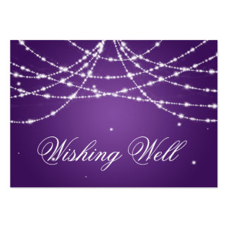 Wishing Well Sparkling String Purple Business Card Template