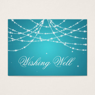 Wishing Well Sparkling String Turquoise Business Card