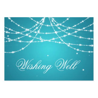 Wishing Well Sparkling String Turquoise Pack Of Chubby Business Cards