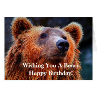 WIshing You a Beary Happy Birthday Bear Photo Card