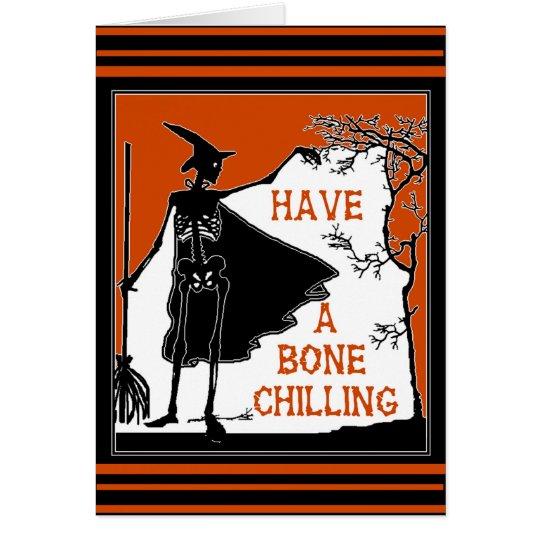 Wishing You A Bone Chilling Halloween Card