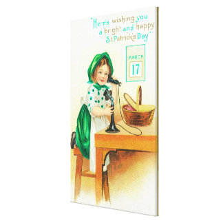 Wishing You a Bright and Happy St. Patrick's Gallery Wrapped Canvas