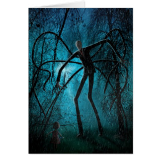 Wishing You a Creepy Day personalized Slender Man Greeting Card