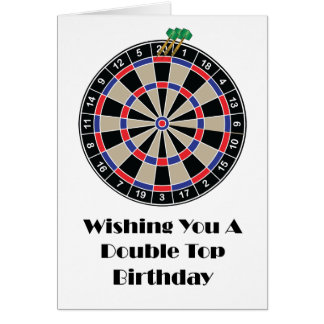 Wishing You A Double Top Birthday Card