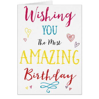 Wishing You a Happy Birthday Colorful Card