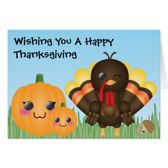 Wishing You A Happy Thanksgiving Card