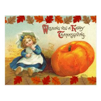 Wishing You a Happy Thanksgiving Postcard
