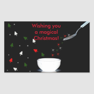 Wishing you a magical Christmas Rectangular Sticker