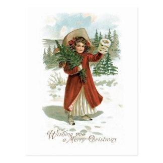 Wishing You a Merry Christmas Postcard