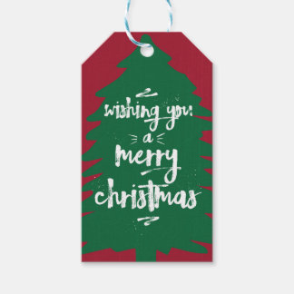 Wishing You a Merry Christmas | Tree | Gift Tag
