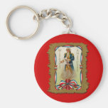 Wishing You a Merry Fourth of July Keychains