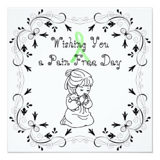 Wishing you a Pain Free Day Card for Lyme Patients
