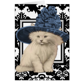 Wishing You a Purrfectly Delightful BD Vintage Cat Greeting Card