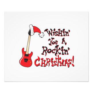Wishing You a Rocking Christmas Guitar Invitation Photograph