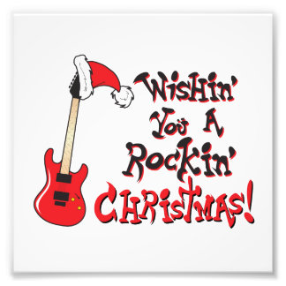 Wishing You a Rocking Christmas Guitar Invitation Photograph