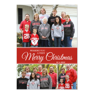Wishing you a very Merry Christmas | 5x7 | red Card