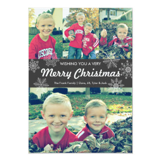 Wishing you a very Merry Christmas | snowflakes Card
