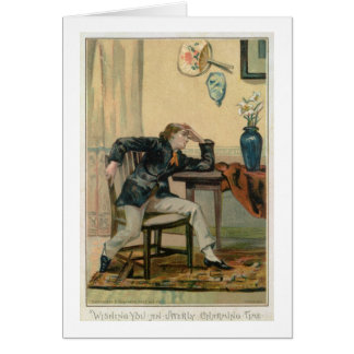 Wishing You An Utterly Charming Time, Victorian Ch Greeting Card