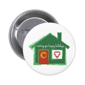 Wishing You Happy Holidays Button