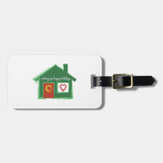 Wishing You Happy Holidays Tag For Bags