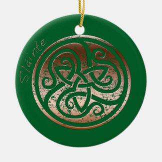Wishing you Health- Slainte Round Ceramic Decoration