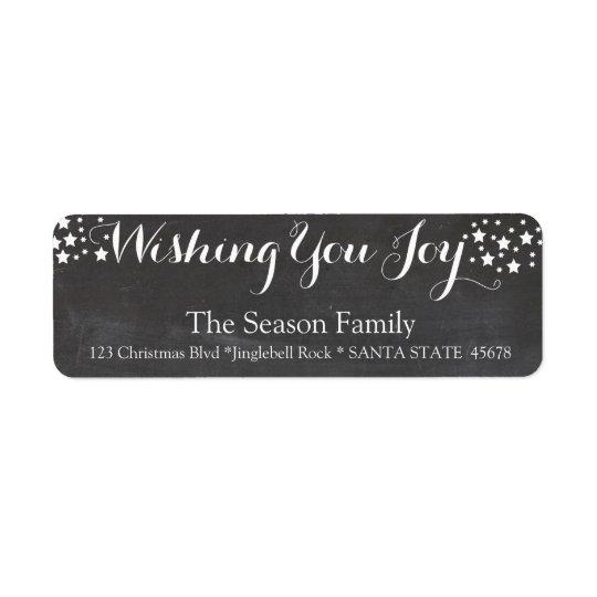 Wishing you Joy holiday label