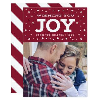 Wishing You Joy Holiday Photo Card
