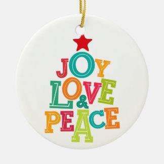 Wishing you Joy, Love & Peace this season! Round Ceramic Decoration