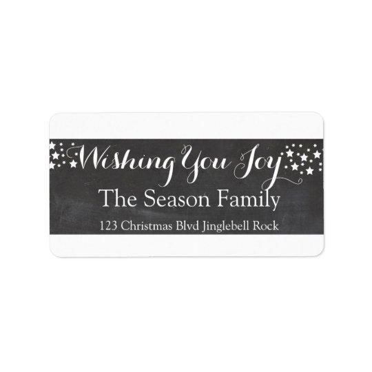 Wishing you Joy stars holiday label