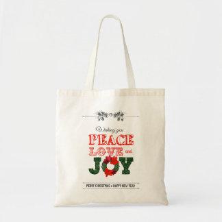 Wishing you peace love and Joy Bolsas