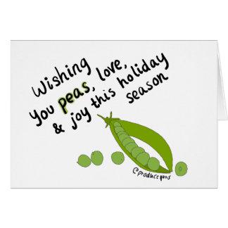 Wishing you peas, love, and joy! card