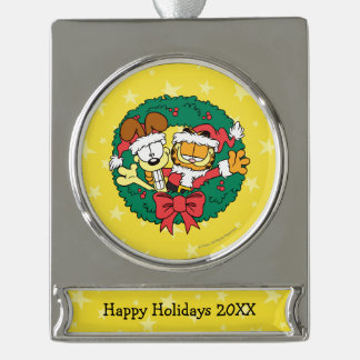 Wishing You the Best of the Season Silver Plated Banner Ornament